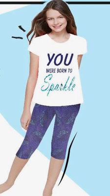 Dice Sparkle zomersetje / pyjama wit/blauw/turquoise