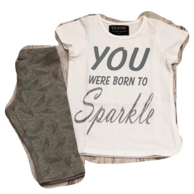 Dice Sparkle zomersetje / pyjama wit/grijs/zilver