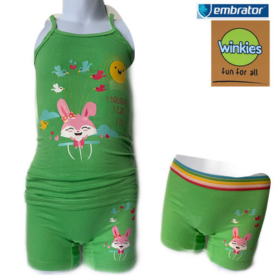 Embrator Meisjes ondergoed setje spaghetti+boxer Koka can Fly groen