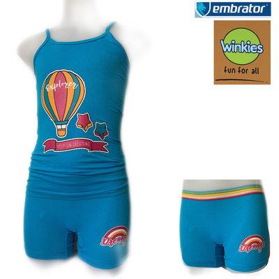 Embrator Meisjes ondergoed setje spaghetti+boxer Explorer blauw